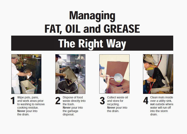 Managing Fat, oil and grease the right way chart